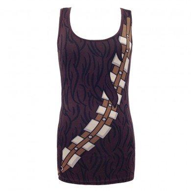 Star Wars I am Chewbacca Womens Tunic Tank (Large, Brown) - Chewbacca Costume Female