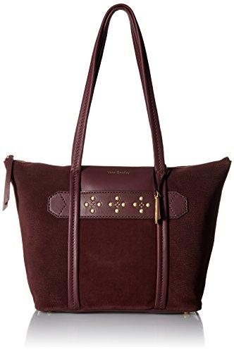 Vera Bradley Mallory Tote Grain Leather, Bittersweet Chocolate -