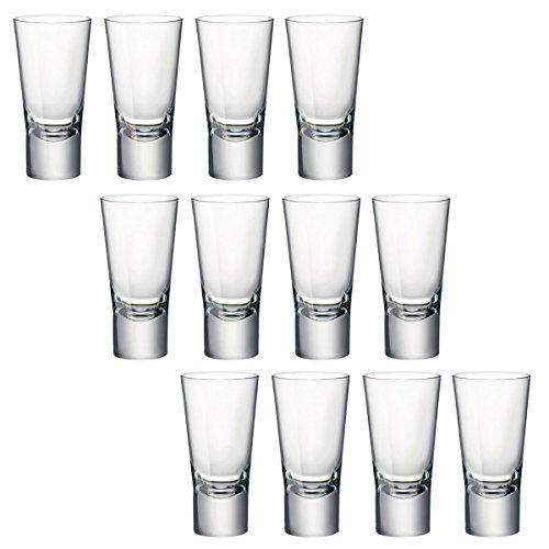Bormioli Rocco Ypsilon Toughened 70Ml Double Shot Glasses Vodka Shooter Drinking Glass ()