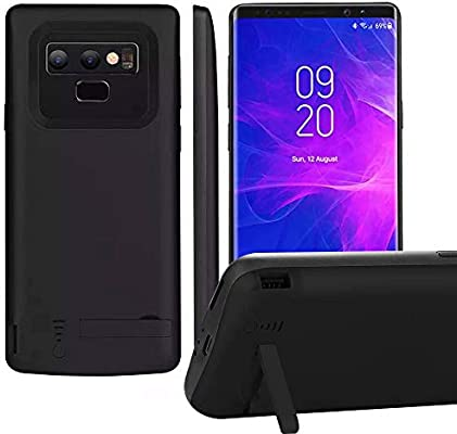 Galaxy Note 9 Battery Case, 5500mAh Ultra Slim Extended Battery Backup Charging Case Charger Pack Power Bank - Black