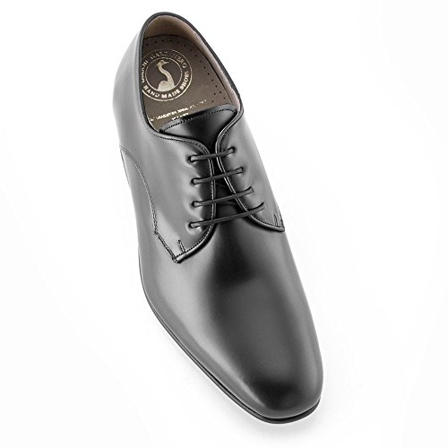 Height Increasing Shoes for Men. Be Taller 7 cm / 2.75 inches. Model Gala Black Size 43
