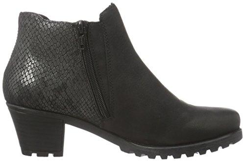 Rieker Y8071, Botines para Mujer Negro (schwarz/grau/granit / 01)