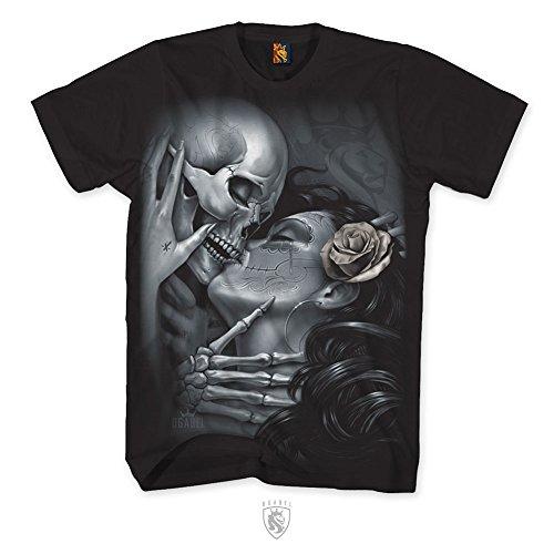 OGABEL Men's Love Lost SS T Shirt Black