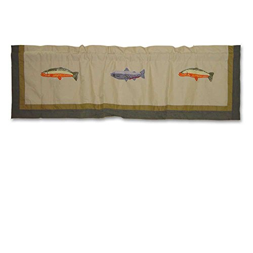 Fishing Valance - Patch Magic Fly Fishing Curtain Valance, 54-Inch by 16-Inch