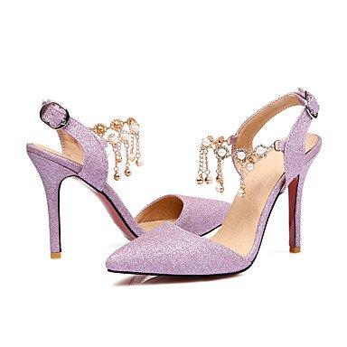 Talones de las mujeres Primavera Verano Otoño Otro boda sintético fiesta y noche vestido de tacón de aguja de plata desnuda Pink Pearl Nude