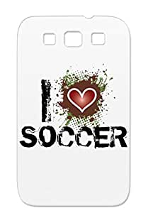 Hearts I Heart Love Heart Designs Shape Mimer I Soccer Soccer Bleeding Sports Red For Sumsang Galaxy S3 Cover Case
