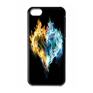 ZK-SXH - Fire Love Brand New Durable Cover Case Cover for iPhone 5C, Fire Love Cheap Case