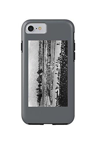 Los Angeles, California - The Home Stretch at Santa Anita Track (iPhone 7 Cell Phone Case, - Santa Mobile Anita