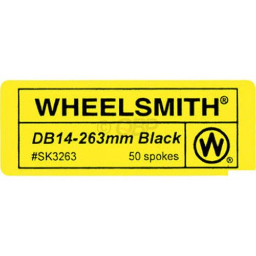Wheelsmith 2.0/1.7 x 288mm black spokes. Bag of 50. by Wheelsmith