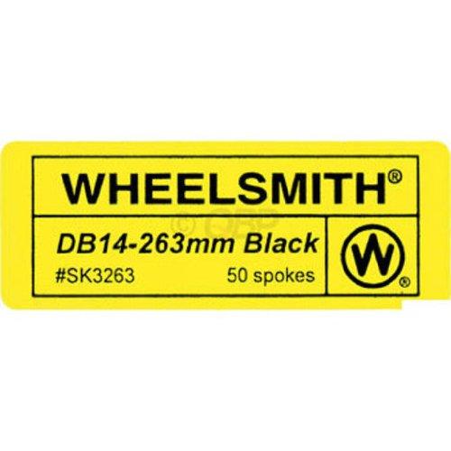 (Wheelsmith DB 14g spoke, black - 266mm bag/50)