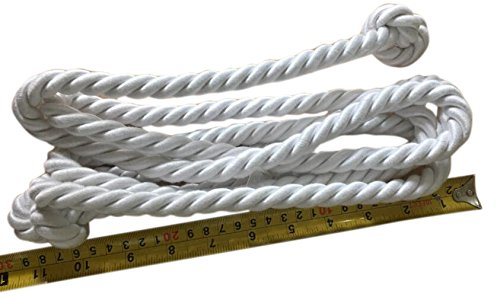 Cincture Belt (Children's Knotted White Cincture Rope for Servers & Altar Boys 94 inch)