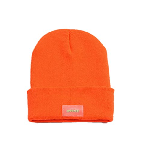 Charles WesT-caps LED Lights Knit Cap Men's Warm Outdoor Night Fishing Cap Winter ()