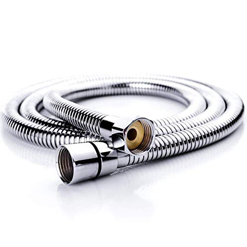59 Inch Shower Hose - 59-inch Shower Hose Bathroom Stainless Steel Extra Long Shower Head Hose Toilet Handheld Showerhead Sprayer Extension Replacement,Polished Chrome