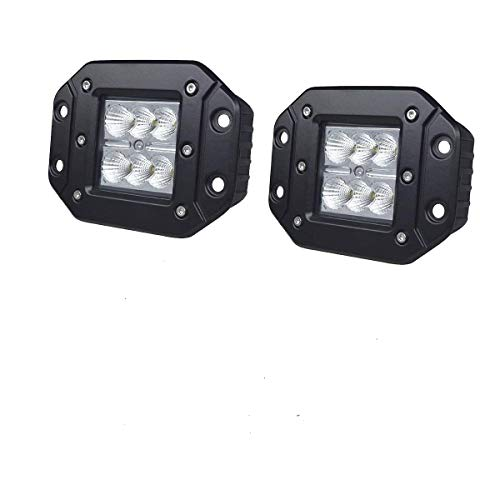 LED Light Bar, Easynew 2PCS 24W IP68 Waterproof CREE Flood LED Work Light Super Bright LED Pods Cube Lights Driving Lights Led Light Bar Off Road Led Lights Flush Mount ()