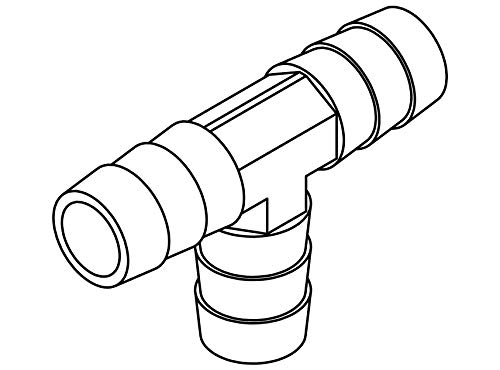Tompkins 29T-06 Hose Barb Fitting, Tee, 3/8