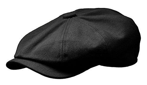 s Newsboy Gatsby Ivy Cap Golf Cabbie Driving Hat (X-Large, Black) ()