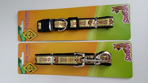 Scooby Doo Collar with Matching Leash (Yellow, Medium)