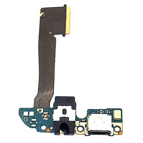 BisLinks Micro USB Charging Port Dock Mic Earphone Audio Jack Flex Ribbon for HTC One M8 (Htc One M8 Micro Usb Port Replacement)