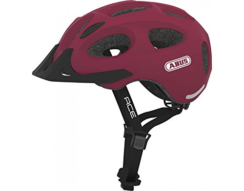 Abus Youn-I Ace - Lg - 56-61 Bike Helmet, Large, Cherry Red
