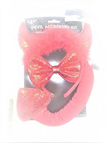 Halloween 3 Piece Devil Accessory Kit for Kids Costume Set -