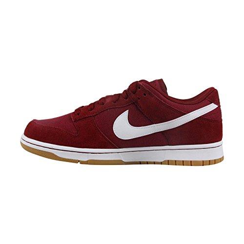 Nike Heren Dunk Laag Enkelkleurig Suede Mode Sneaker Team Rood Wit
