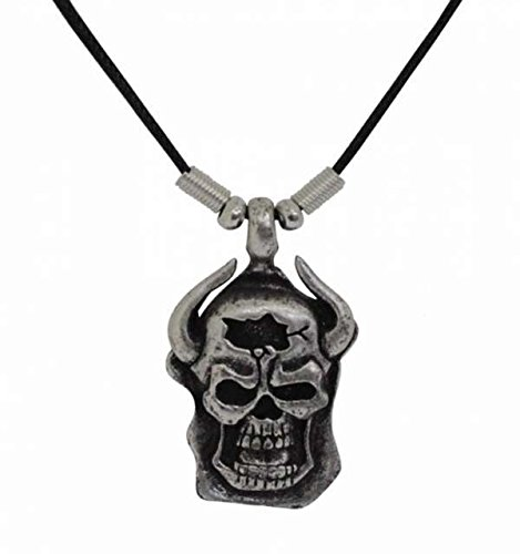 Gothic Necklace Skull with Horns