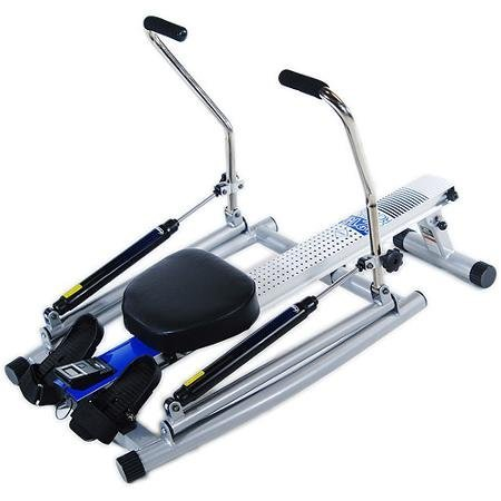 Adjustable Tension Controls, Orbital Rower with Free Motion Arms, White