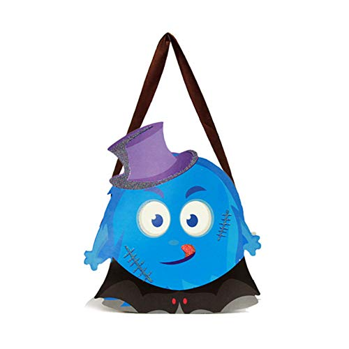 Da.Wa Halloween Decoration Children's Portable Pumpkin Bag Sugar Stereo DIY Pirate Candy Bag Kindergarten Performance Dress up Decoration Props