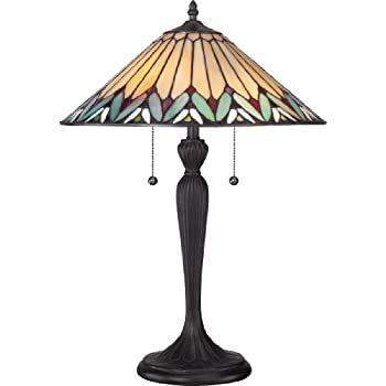 Quoizel Tf6669vb 2 Light Tiffany Table Lamp Small