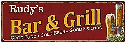 Amazon com: Rudy's Bar and Grill Red Personalized Man Cave