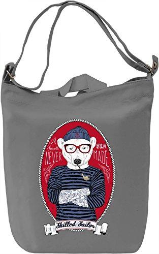 Sailor bear Borsa Giornaliera Canvas Canvas Day Bag| 100% Premium Cotton Canvas| DTG Printing|