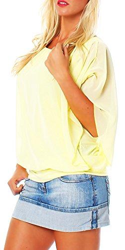 Taille Jaune Femme malito Blouse lgant Unique Loose Haut Tunique Oversize 6296 n66v8qwTRx