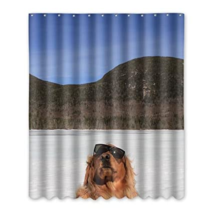 Showercurtain Polyester Anti Mildew Reinforced Fashion Bathroom Hook Shower  Curtain 59x71 Inch