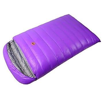 Obert doble personas sobre sacos de dormir 1800 g blanco plumas de pato impermeable Camping senderismo adultos 220 * 180 cm: Amazon.es: Deportes y aire ...
