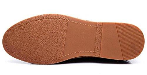 Brown Moda Stringate Scarpe In Pelle Scarpe Casual Uomo Lavoro Da Scarpe TwAf7nqqv