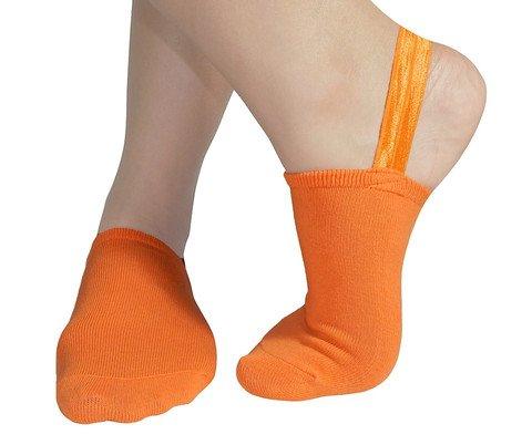 Halfsox The Original Classic Sling-back No Show Half Socks (Medium-Large Orange) (One ()