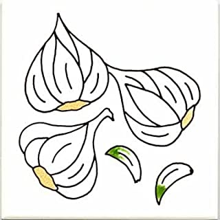 product image for FRUITS-VEGETBLES-TRIVETS-WALL PLAQUES-GARLIC TILE