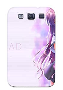 Galaxy S3 Hard Back With Bumper Silicone Gel Tpu Case Cover For Lover's Gift Kyou Fujibayashi Clannad