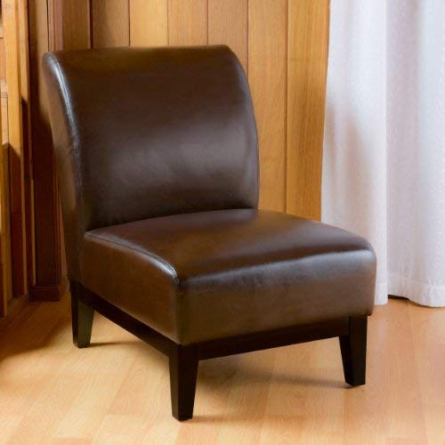 Christopher Knight Home 238908 Brakar Brown Leather Armless Chair,