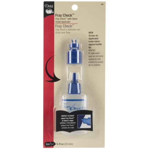 Dritz 399 Fray Check with Fabric Guide Applicator Tip, 3/4-Ounce (Fray Check)
