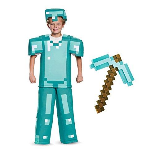 BirthdayExpress Minecraft Armor with Pick Axe Prestige Child