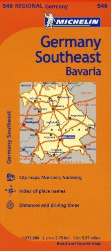 Michelin Germany Southeast Map 546 (Maps/Regional (Southeast Us Map)