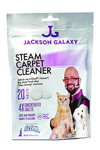 Jackson Galaxy Steam Cleaner (20 Tablets) Carpet Stain Remover, Odor Neutralizer & Upholstery Cleaner Makes 10 Gallons