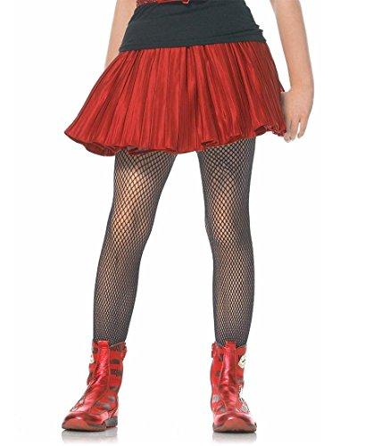 Leg Avenue 4067 Girls Fishnet Pantyhose Tights - Black - X-Large -