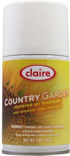 Claire C-118 7 Oz. Country Garden Metered Air Freshener Aerosol Can (Case of 12)
