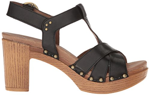 Dansko Women Daniela Heeled Sandal Black Full Grain