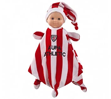 Paola Reina Doudou Athletic Bilbao, muñeca bebé de vinilo, 34 cm (01292)