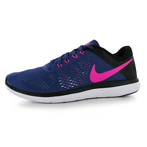 NIKE Flex 2016Chaussures de Course à Pied pour Femme Violet/Rose Run Fitness Formateurs Sneakers