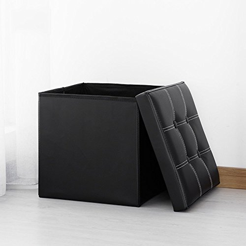 DIDIDD Sofa stool- square single stool storage stool 55 l toy storage stool change shoe stool storage small sofa stool (7 colors optional) (37 37 37cm) --storage stool,D - Series Single Face Wooden Bookcase