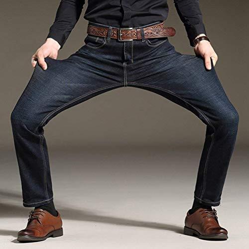 Pantaloni Da In Denim Adelina Jeans Nero Abbigliamento Vintage Uomo Casual Comodi Slim Stretch BtcBXgwqn